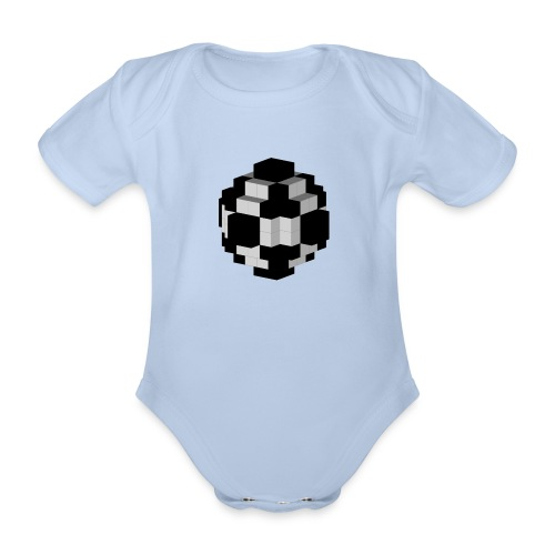 Fußball Fussball Soccer Ball - Baby Bio-Kurzarm-Body