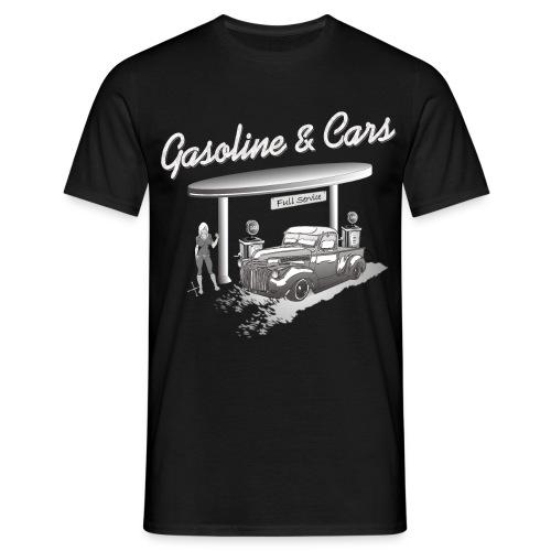 Oldtimer Pickup an Tankstelle - Männer T-Shirt
