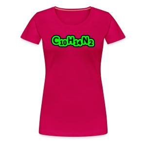 Nicotine - T-shirt Premium Femme