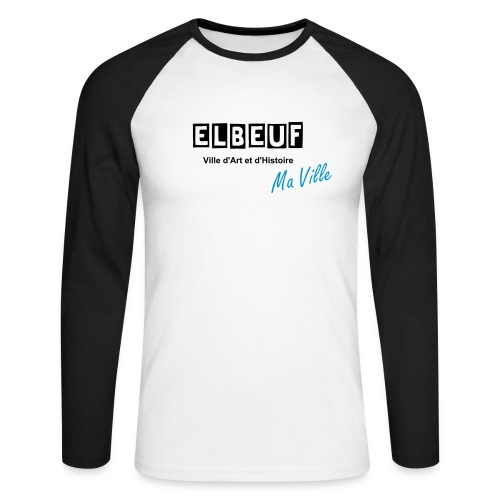 elbeuf ma ville - T-shirt baseball manches longues Homme