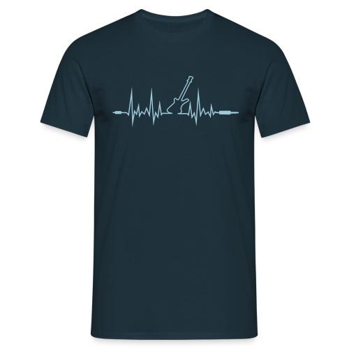 Wave Gitarre mit Klinkenstecker-Enden - Männer T-Shirt