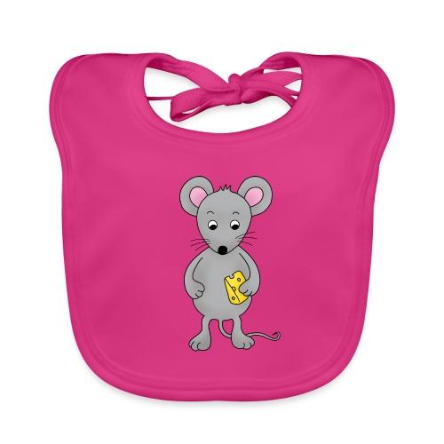 freche Maus, Baby Lätzchen mit frecher Maus - Baby Bio-Lätzchen