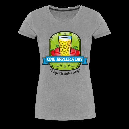 One Äppler a day Gilry - Frauen Premium T-Shirt