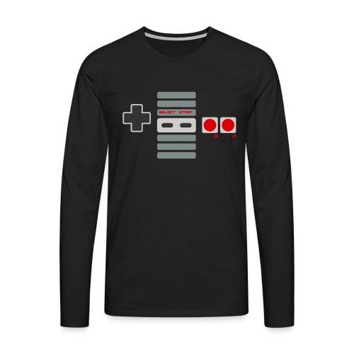 T-shirt Homme Premium Manches longues | Manette de Jeu - Console NES retrogaming - T-shirt manches longues Premium Homme