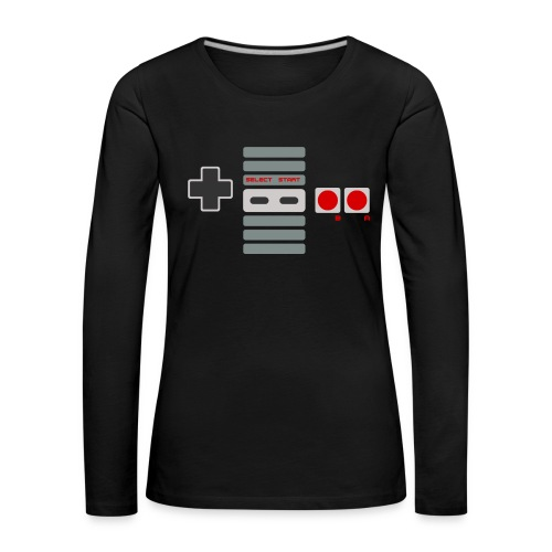 T-shirt Femme Premium Manches longues | Manette de Jeu - Console NES retrogaming - T-shirt manches longues Premium Femme
