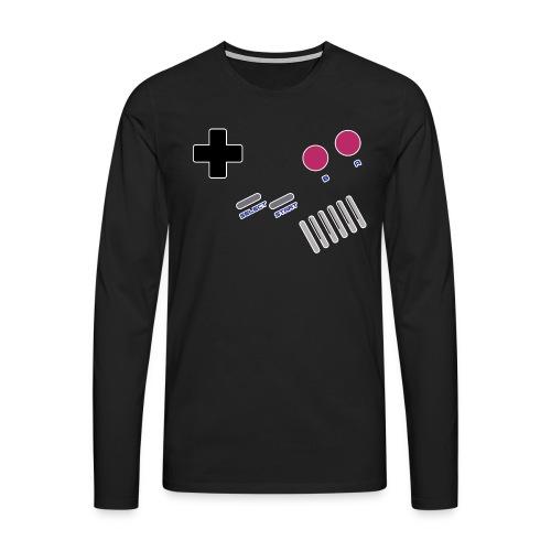 T-shirt Homme Premium Manches longues | Manette de jeu - Console Portable GB retrogaming - T-shirt manches longues Premium Homme