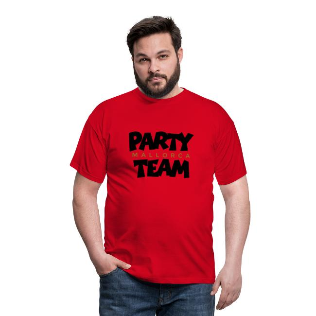 Mallorca Party Team T-Shirt (Herren Schwarz/Gold)