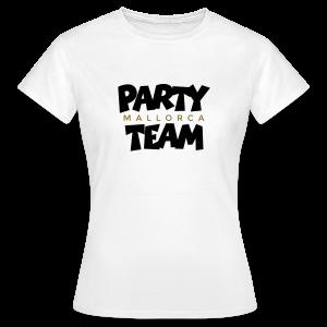 Mallorca Party Team T-Shirt (Damen Schwarz/Gold) - Frauen T-Shirt