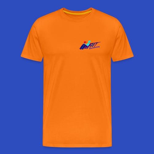 modernes Schieß-Sport Emblem  - Männer Premium T-Shirt