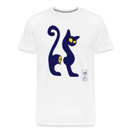 cutcat 2 coul - T-shirt Premium Homme