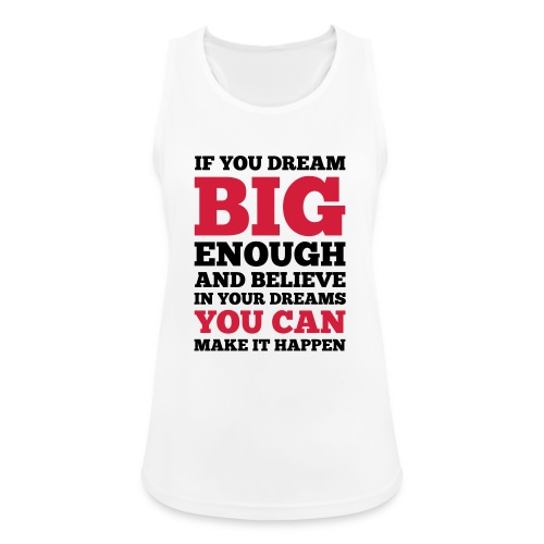 If you dream big enough #1 - Motiv vorne, Schwarz / Rot - Frauen Tank Top atmungsaktiv
