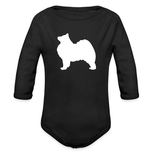 Samoyed white Baby Long Sleeve One Piece - Organic Longsleeve Baby Bodysuit