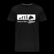 T-Shirts ~ Men's Premium T-Shirt ~ Natural Born Biker