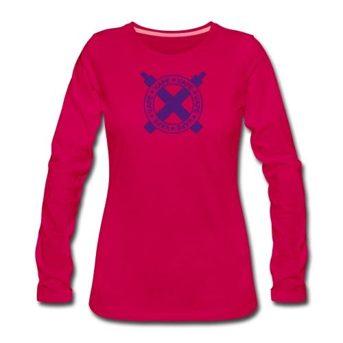 Vape Cross - T-shirt manches longues Premium Femme