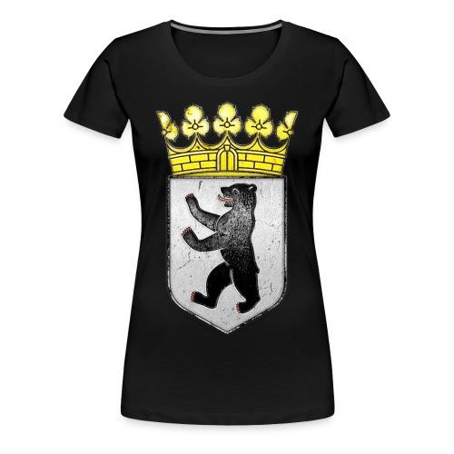 Berlin Wappen mit Krone  - Frauen Premium T-Shirt