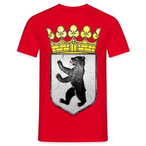 Berlin Wappen mit Krone  - Männer T-Shirt