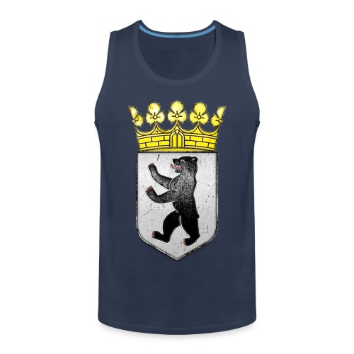 Berlin Wappen mit Krone  - Männer Premium Tank Top