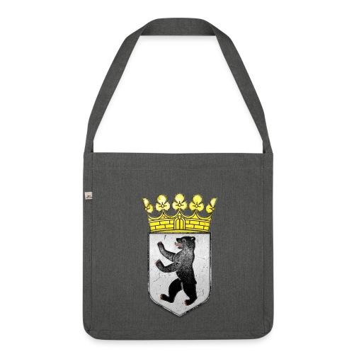 Berlin Wappen mit Krone  - Schultertasche aus Recycling-Material