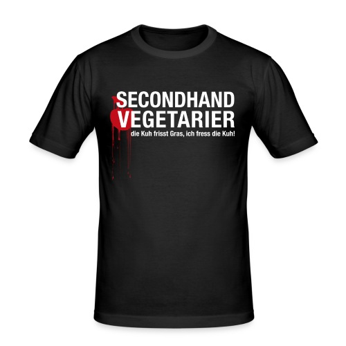 Secondhand Vegetarier - Männer Slim Fit T-Shirt