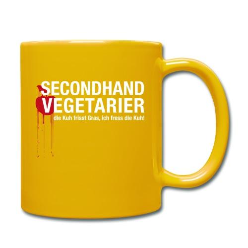Secondhand Vegetarier - Tasse einfarbig