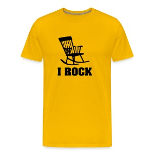 Rocker T-shirt: I ROCK - Mannen Premium T-shirt