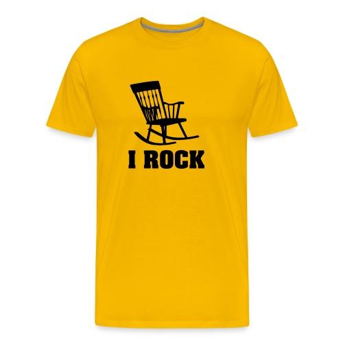 Rocker T-shirt: I ROCK - Mannen Premium T-shirt