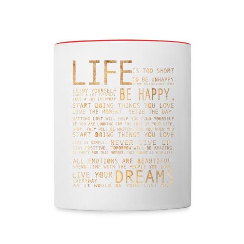 life - Contrasting Mug