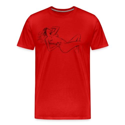 Male t-shirt, Nude designed by Samy Lalmi - Men's Premium T-Shirt