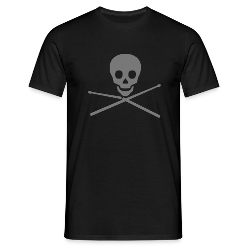 Skull with broken Sticks, grey - Männer T-Shirt