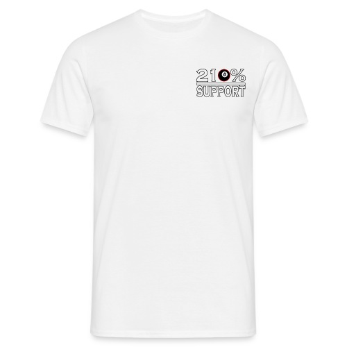 210% support on the heart - Men's T-Shirt