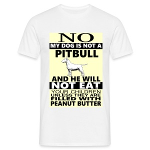 NO PITBULL  - Men's T-Shirt