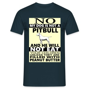 Pitbull , bull terrier - Men's T-Shirt