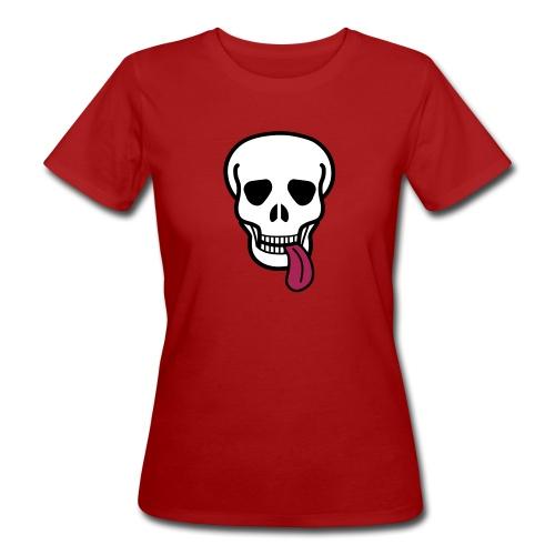 tongue skull T-paidat - Women's Organic T-Shirt