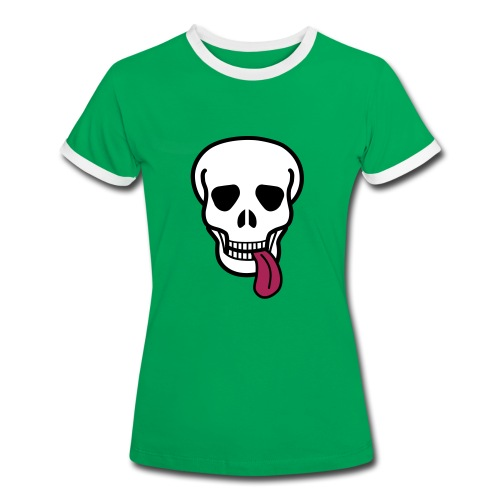 tongue skull T-paidat - Women's Ringer T-Shirt