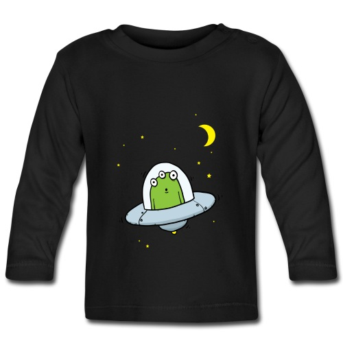 Long Sleeve Flying Saucer Baby T-shirt - Baby Long Sleeve T-Shirt