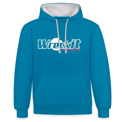 Wreck it! Hoodie - blue/white - Contrast hoodie