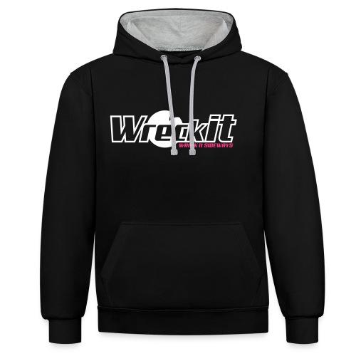 Wreck it! Hoodie - black/white - Contrast hoodie