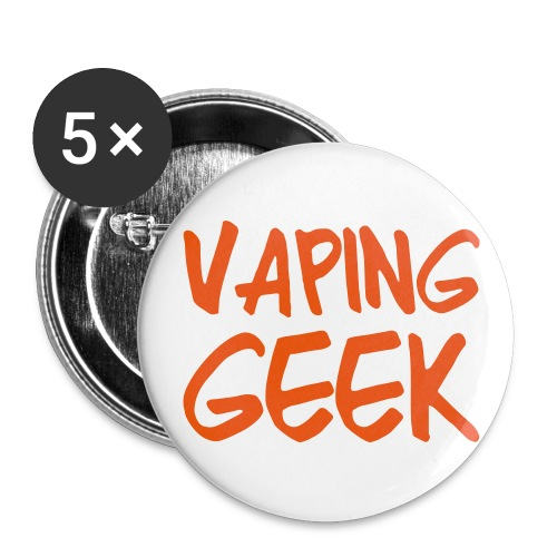 Vaping geek - Lot de 5 grands badges (56 mm)
