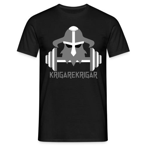 krigarekrigar tisha för dom hårda grabbarna - T-shirt herr
