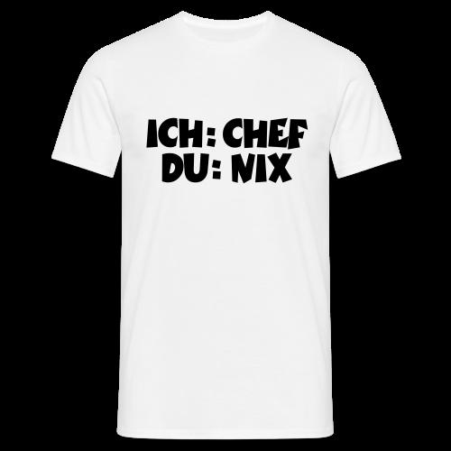 Chef T-Shirt (Weiß) - Männer T-Shirt