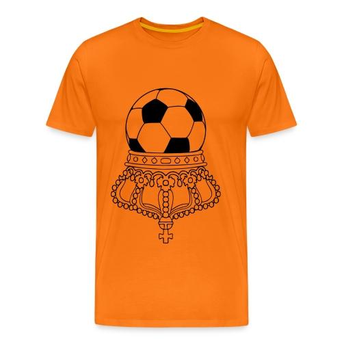 ondersteboven koning voetbal - Mannen Premium T-shirt