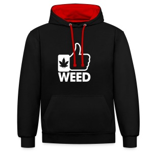 sweat weed homme/femme - Sweat-shirt contraste