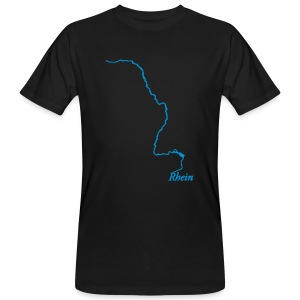 Rhein 1238,8 km - Männer Bio-T-Shirt