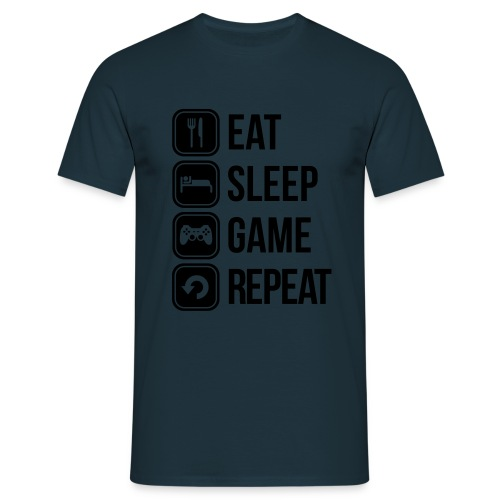 Eat Sleep Game Repeat - Männer T-Shirt