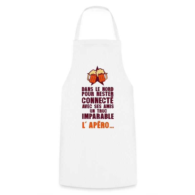 Tablier nord connecte amis apero alcool humour spreadshirt - Tablier de cuisine humour ...