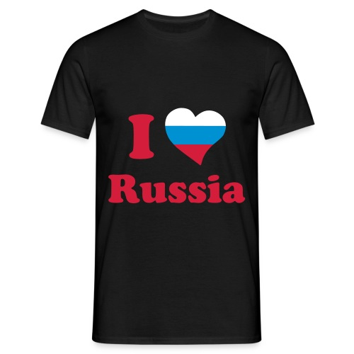 I Love Russia  - Männer T-Shirt
