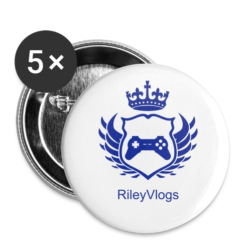 RileyVlogs Badge (Blue) - Buttons groot 56 mm (5-pack)
