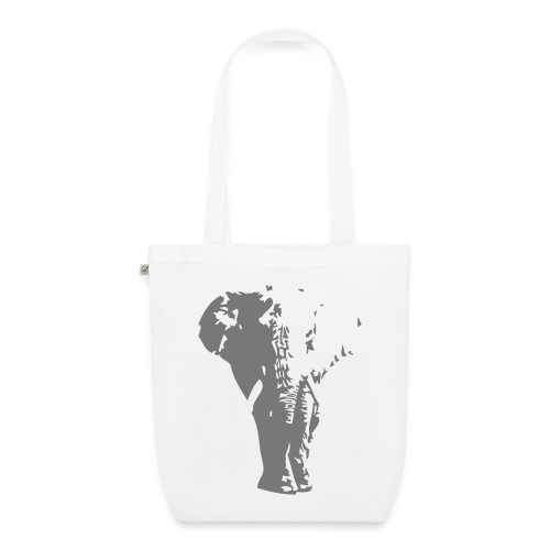 Organic Cotton Grey Elephant Tote Bag - EarthPositive Tote Bag
