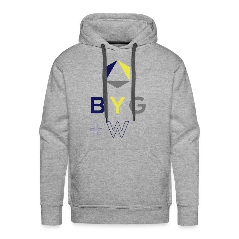 BYG+White Logo Hoodie - Men's Premium Hoodie