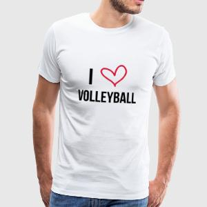 I Love Volleyball Tee shirts - T-shirt Premium Homme